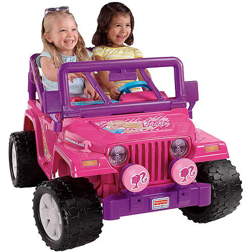 Pink Power Wheels Tractor : Fisher price power wheels pink barbie jammin jeep volt